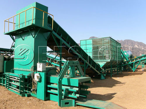urban waste sorting machine
